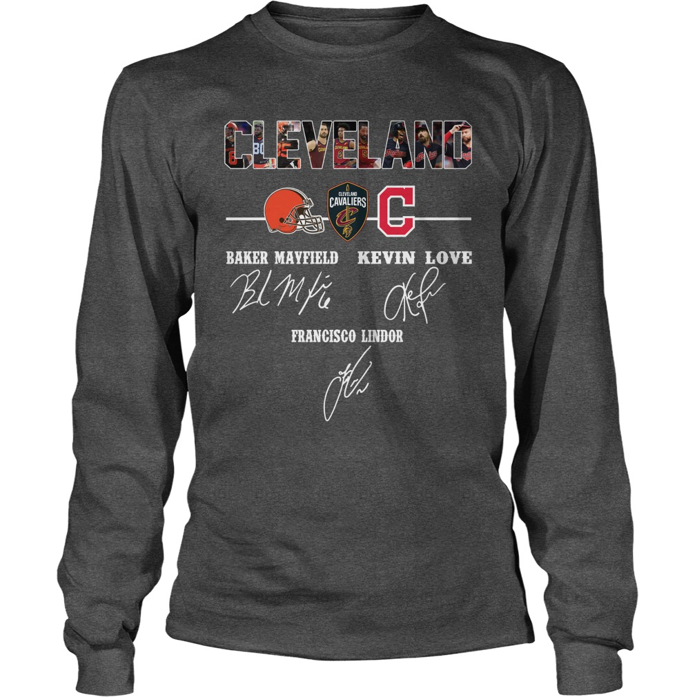 Cleveland Cavaliers Baker Mayfield Kevin Love signature longsleeve tee