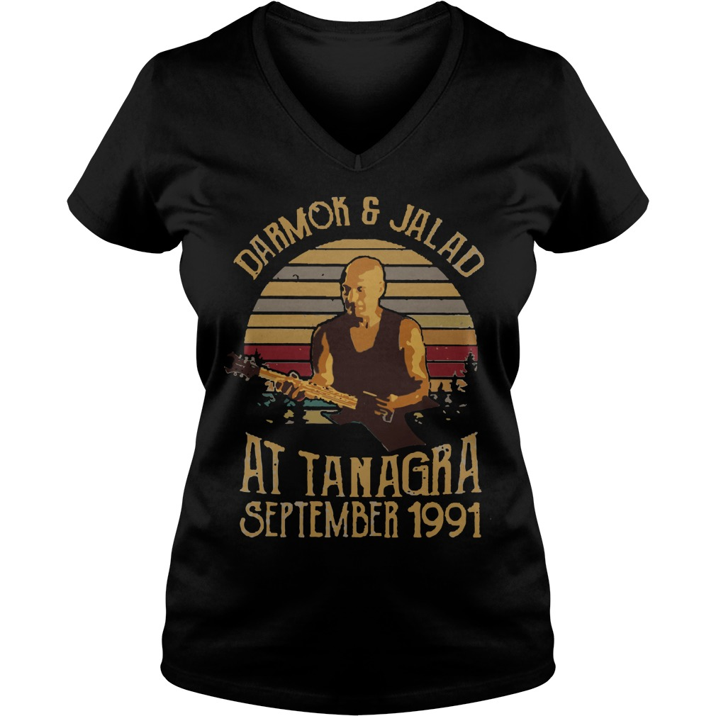 Darmok and jalad at tanagra september 1991 vintage lady v-neck
