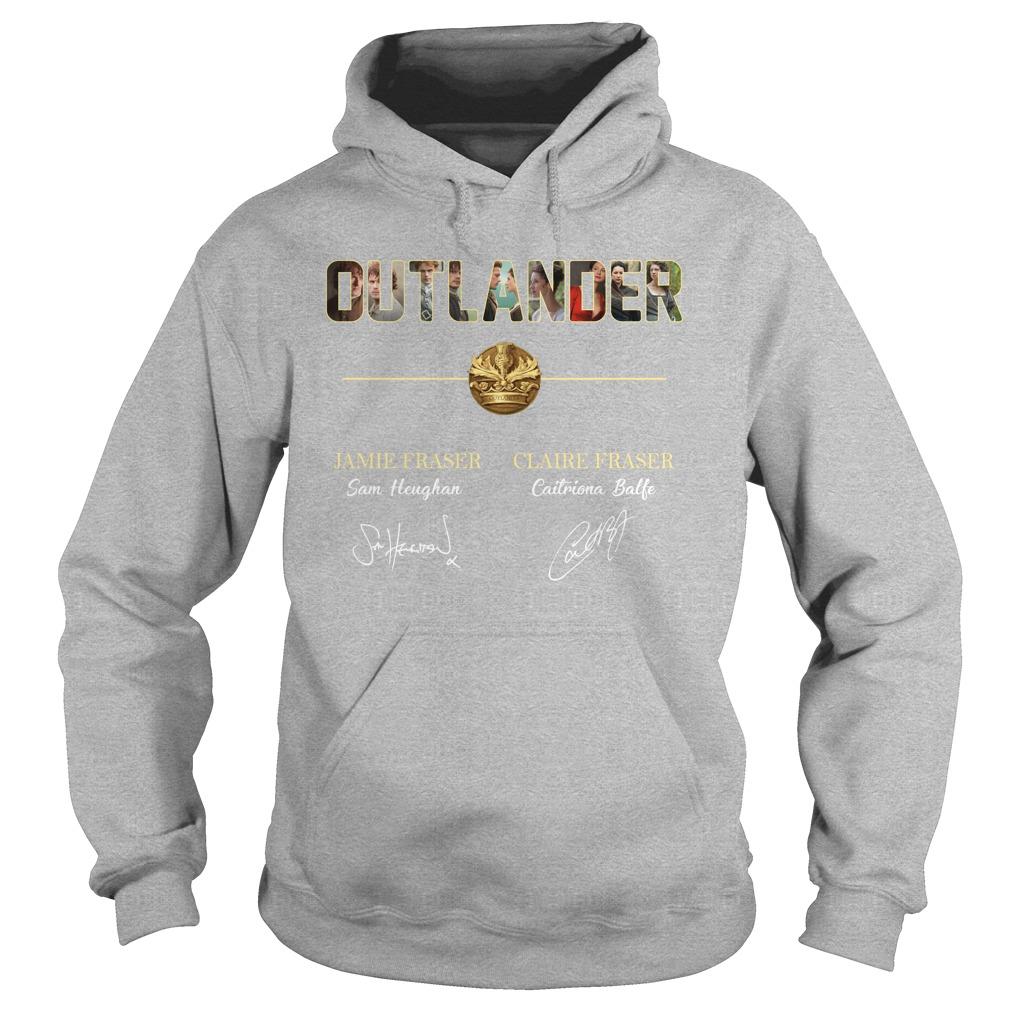 Outlander Jamie Fraser Claire Fraser signature hoodie