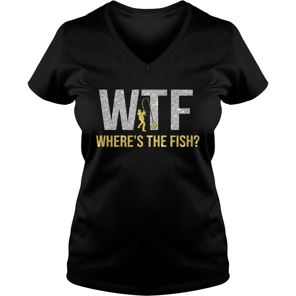 Wtf where's the fish glitter lady v-neck