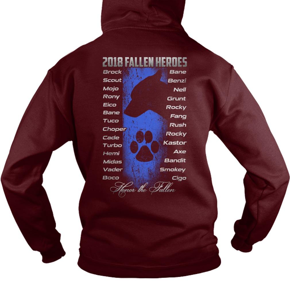 2018 fallen heroes honor the fallen hoodie