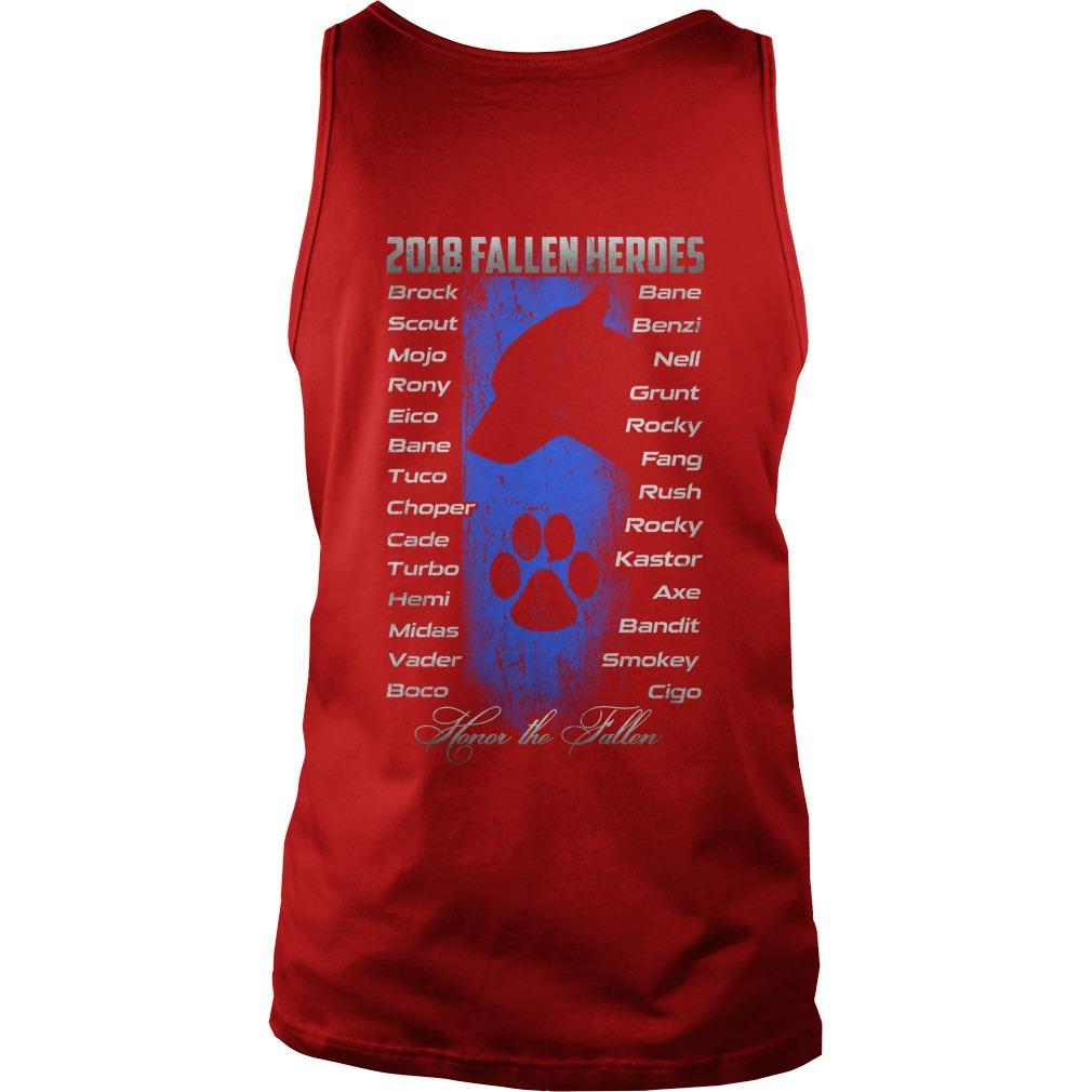2018 fallen heroes honor the fallen tank top