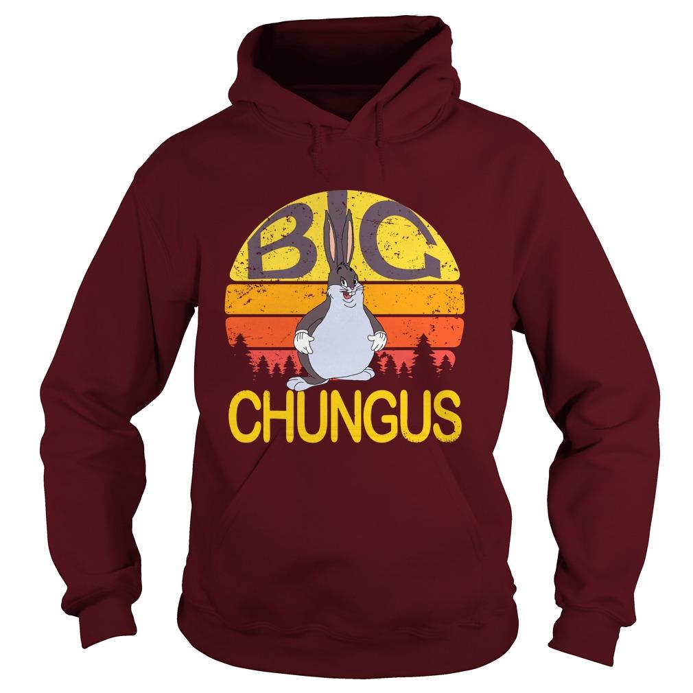 Big Chungus meme vintage hoodie