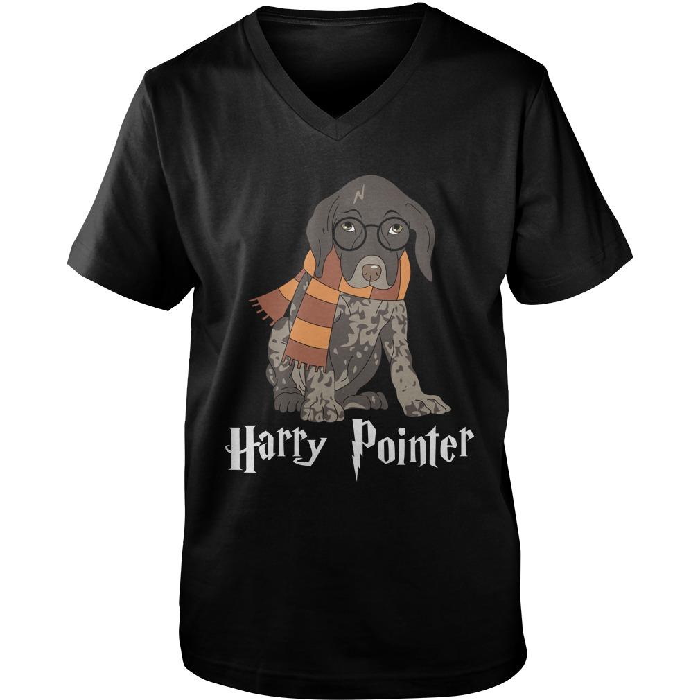 German Shorthaired Pointer Harry Pointer guy v-neck
