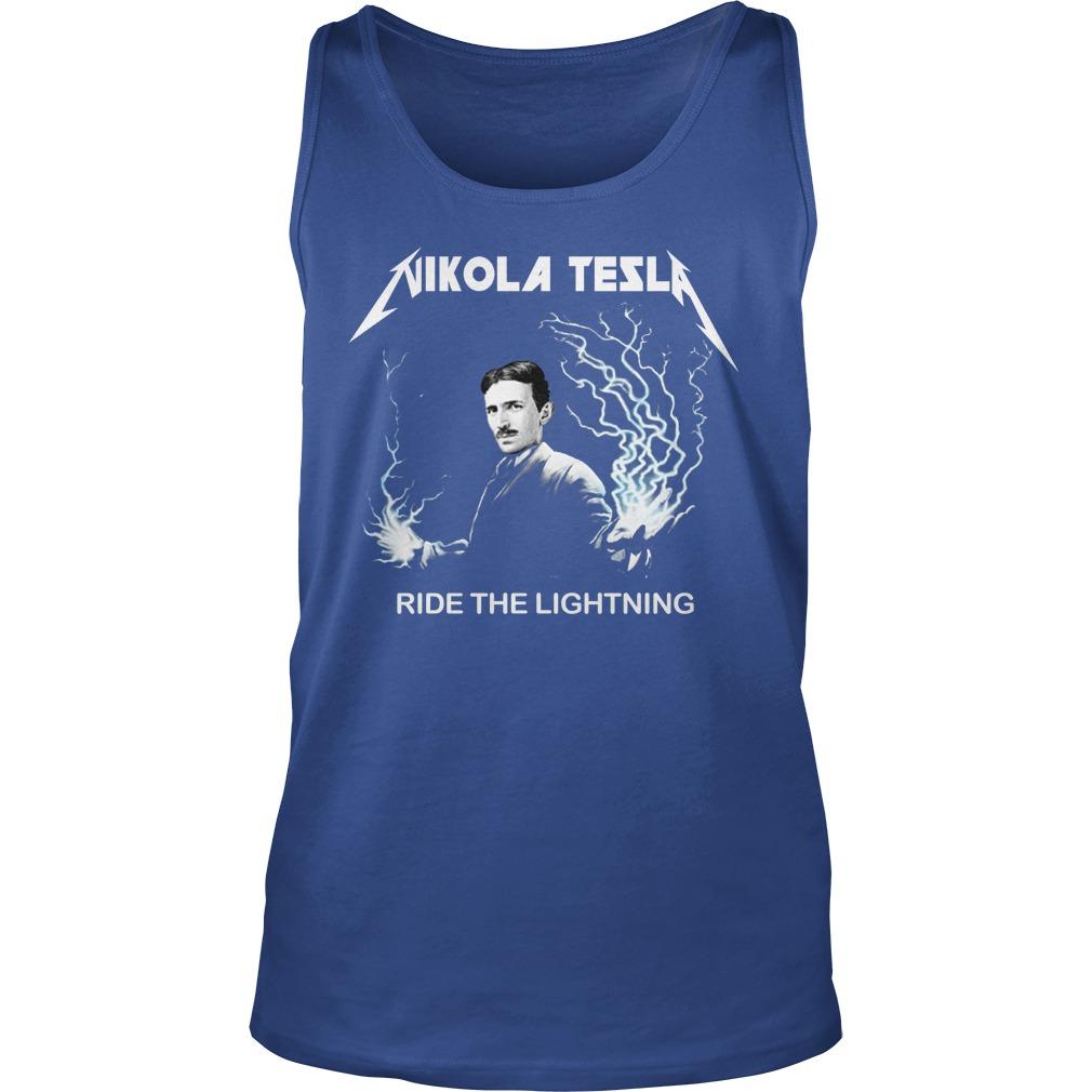 Nikola tesla ride the lightning tank top