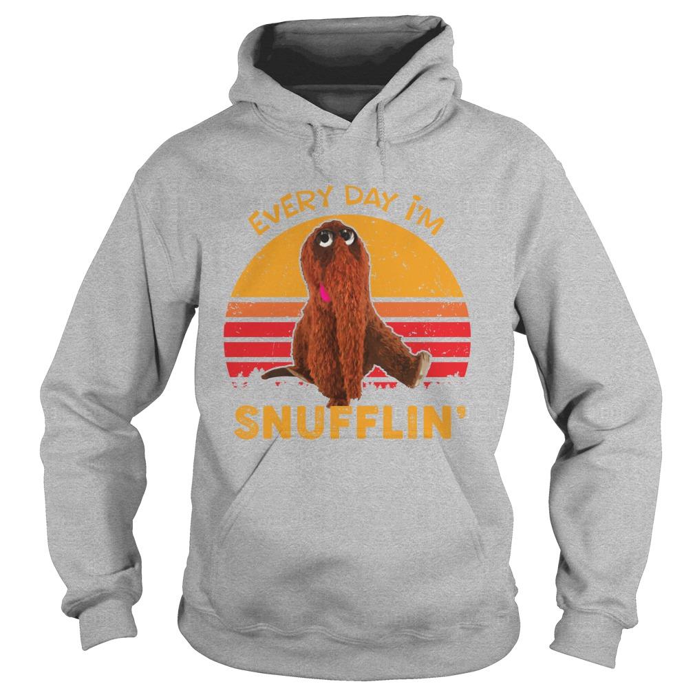 Snuffleupagus Everyday I'm Snufflin vintage hoodie