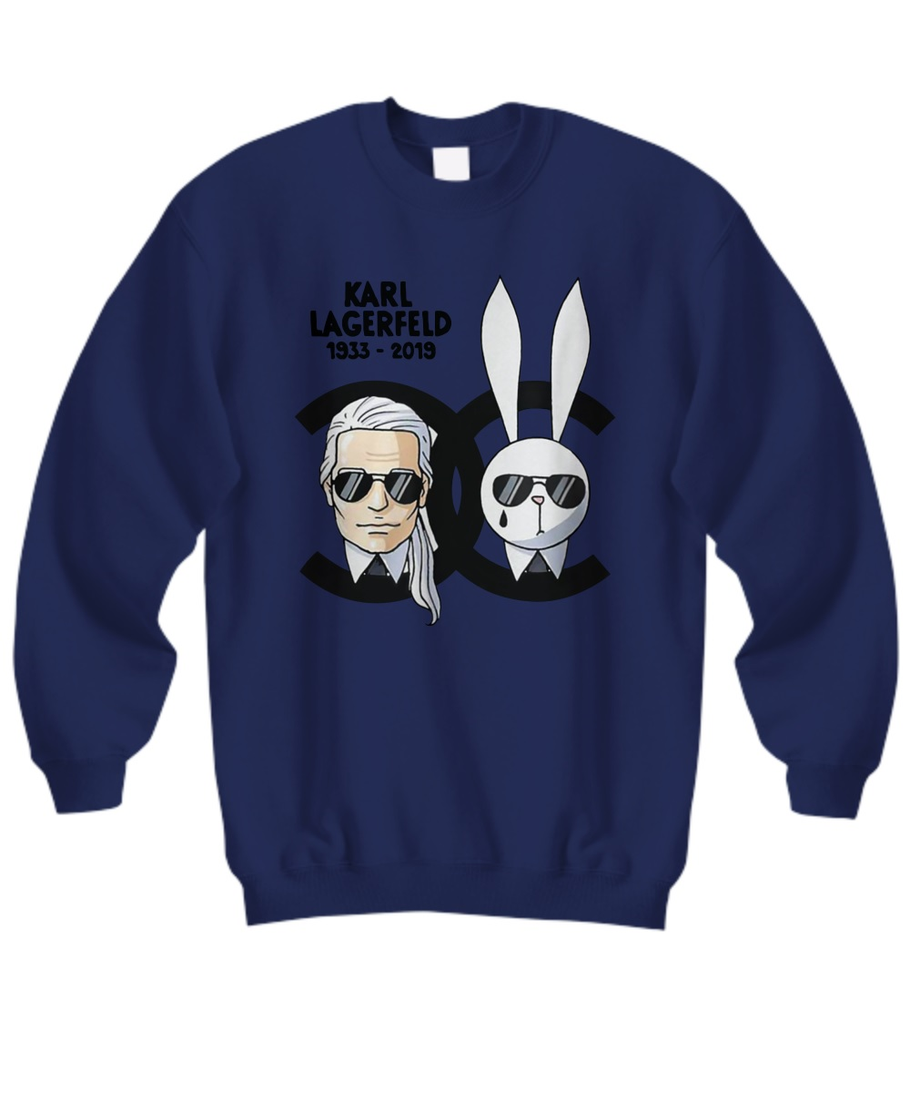Channel rip karl lagerfeld sweatshirt