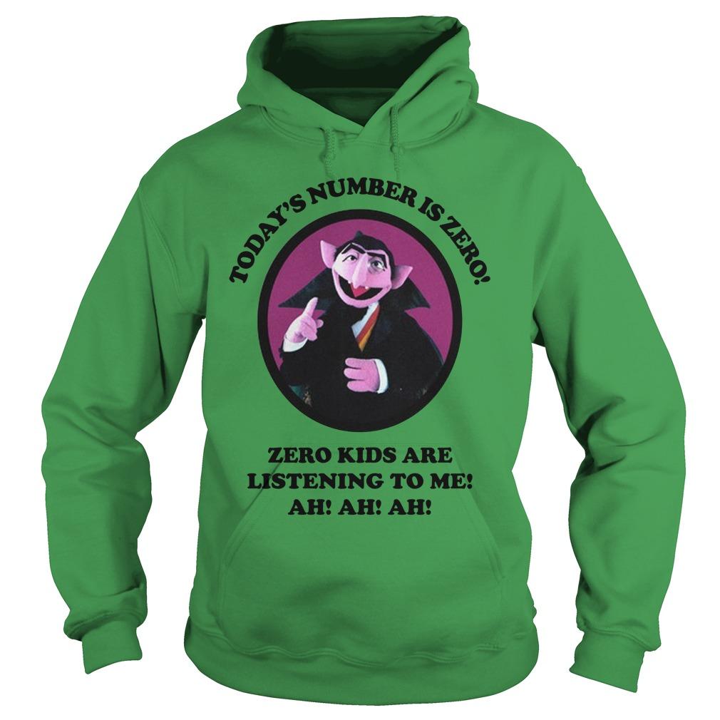 Count von Count today's number is zero zero kids are listening to me ah ah ah hoodie