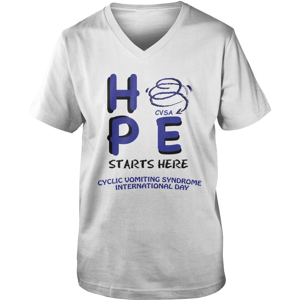 Hpe vsa starts here cyclic vomiting syndrome international day guy v-neck