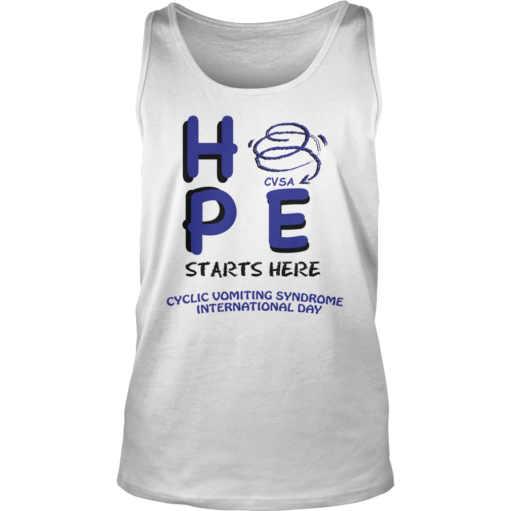 Hpe vsa starts here cyclic vomiting syndrome international day tank top