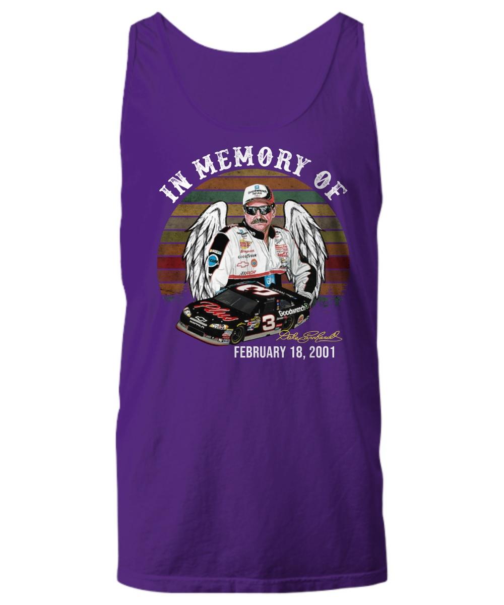 In memory of Dale Earnhardt feb 18 2001 tank top