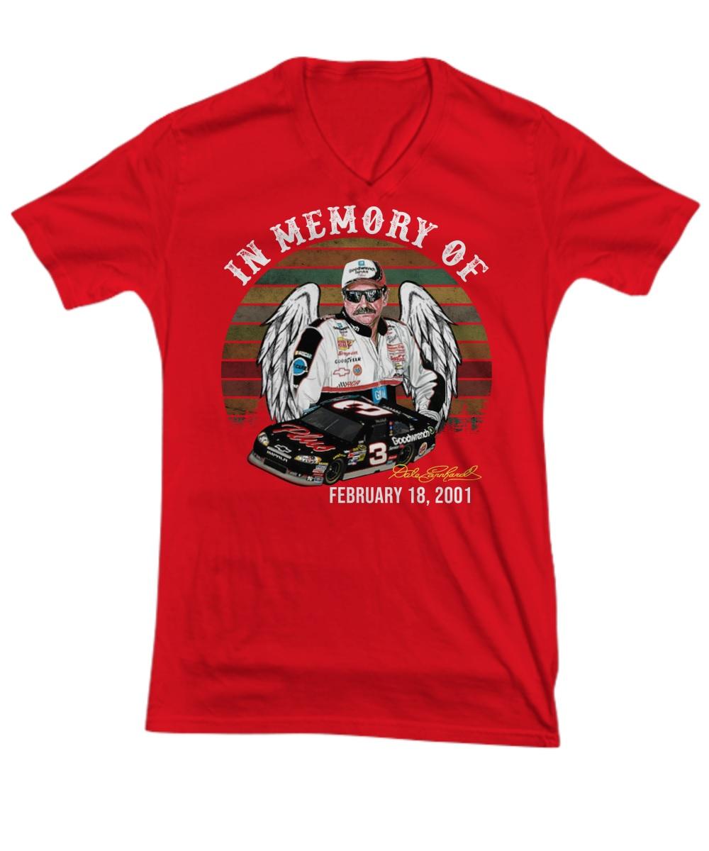 In memory of Dale Earnhardt feb 18 2001 v-neck