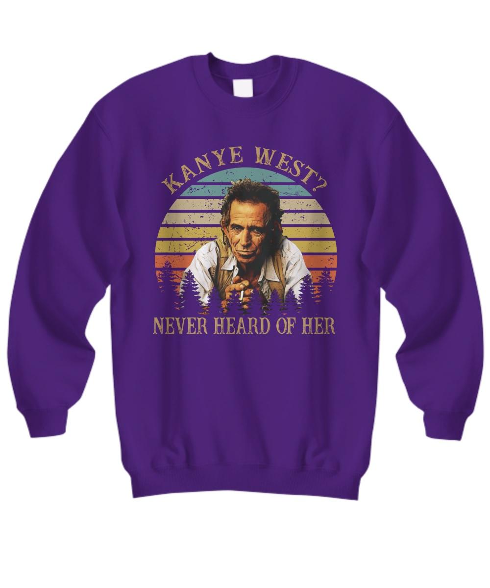 Vintage kanye west never heard of her sweatshirt