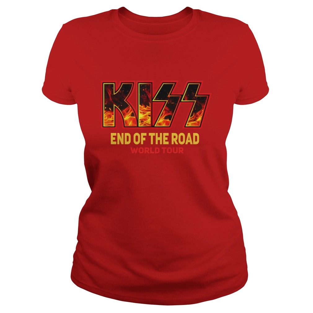 kiss end of the road tour lady shirt