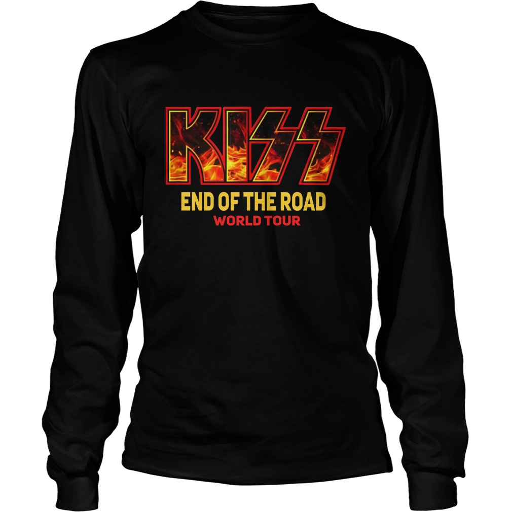 kiss end of the road tour longsleeve tee