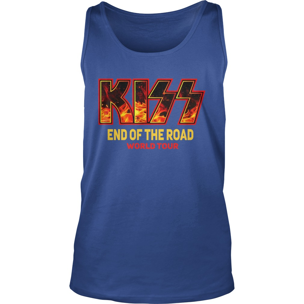 kiss end of the road tour tank top