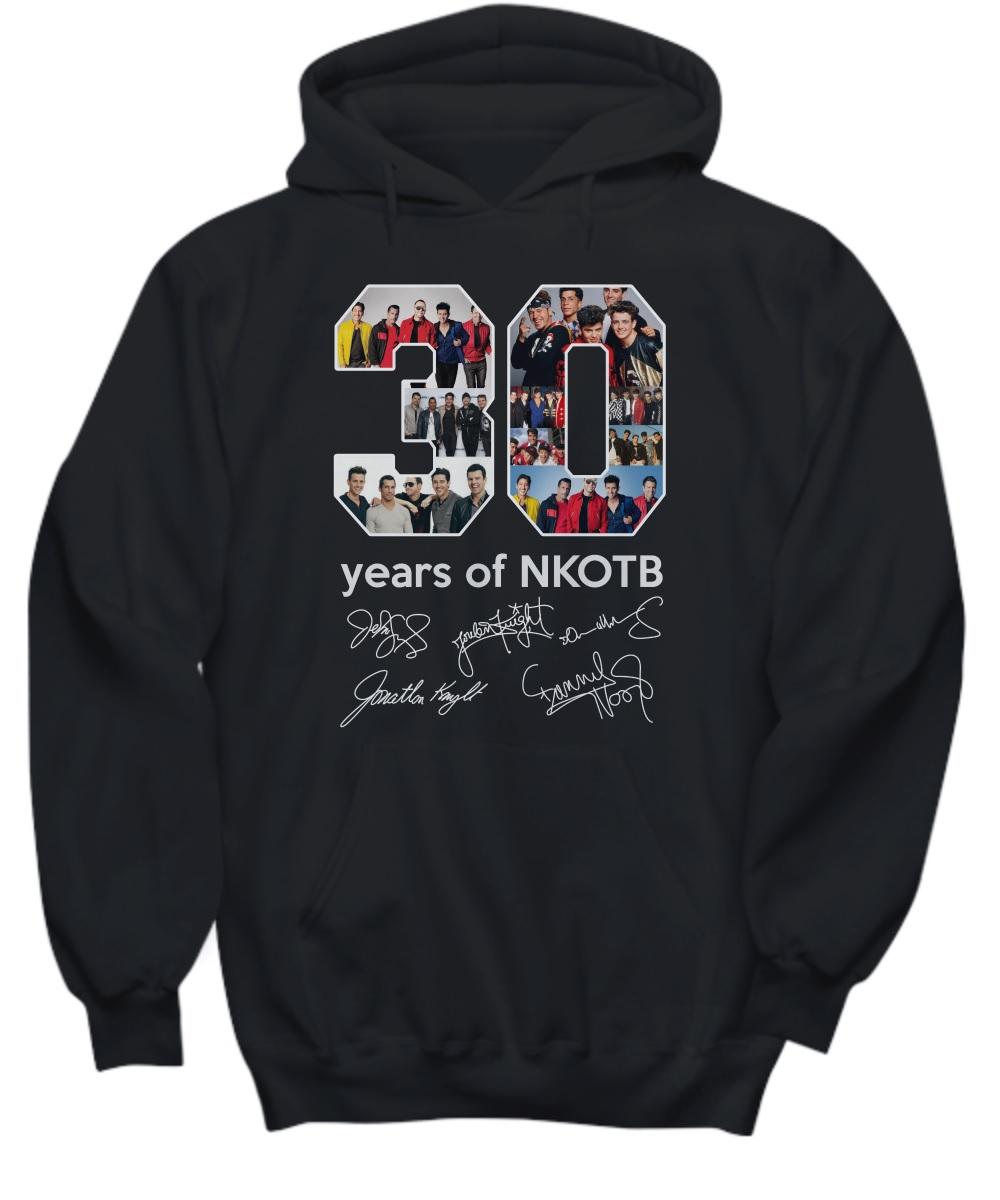 30 years of nkotb sign hoodie