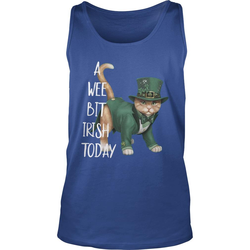 Cat a wee bit irish today tank top