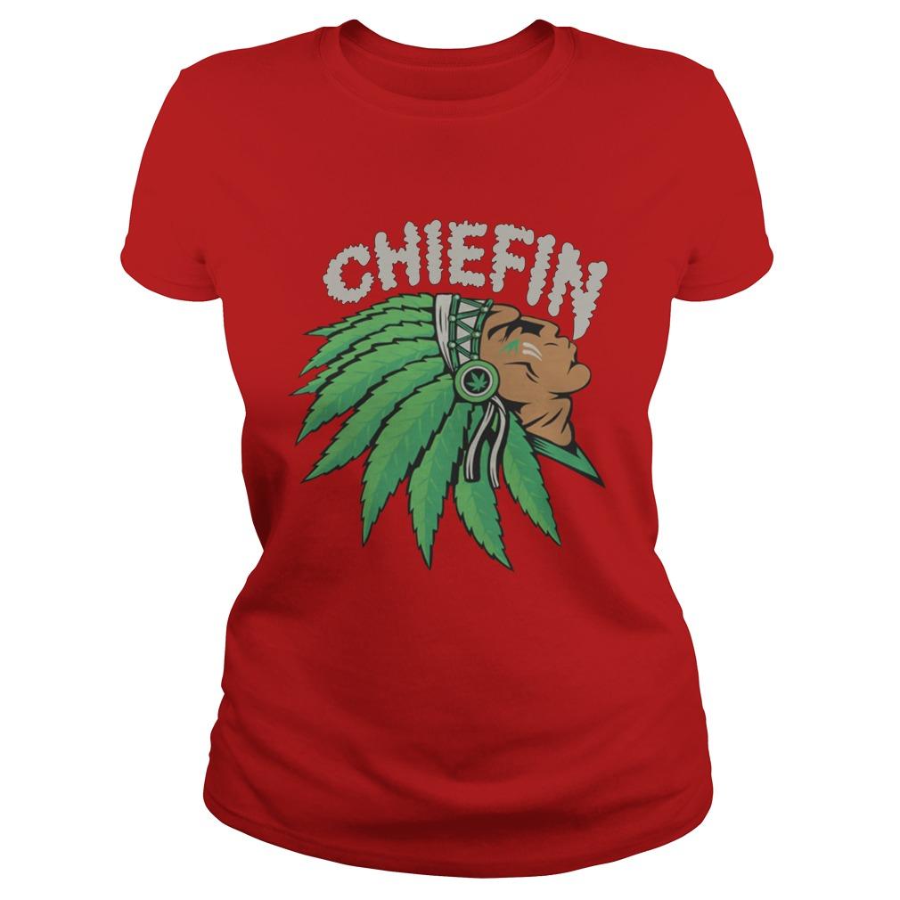 Chiefin Smoke Weed Native American lady shirt