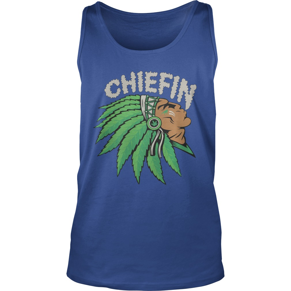 Chiefin Smoke Weed Native American tank top