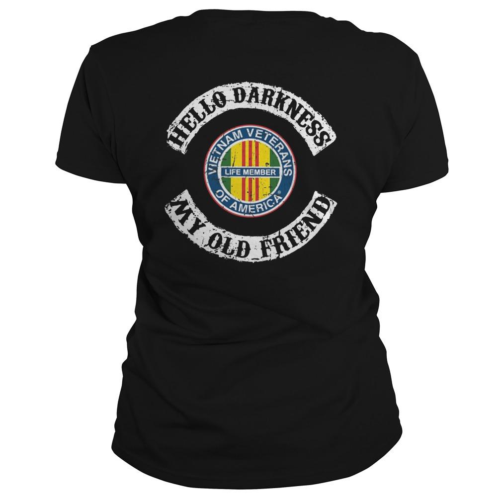 Hello darkness my old friend vietnam veteran lady shirt