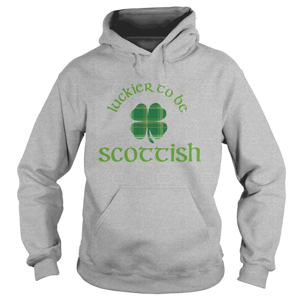 Luckier to be Scottish shamrock hoodie