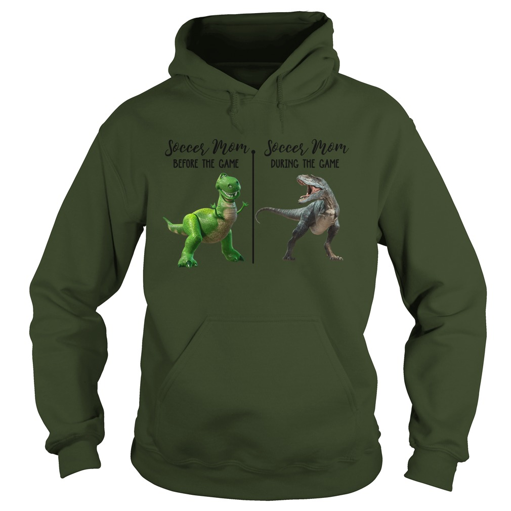 Rex Dinosaur soccer mom before the game during the game hoodie