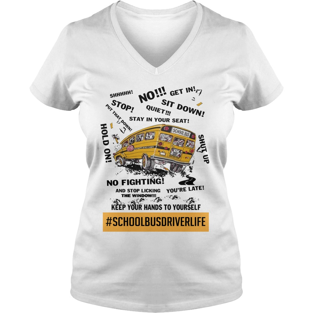 School bus driver life lady v-neck