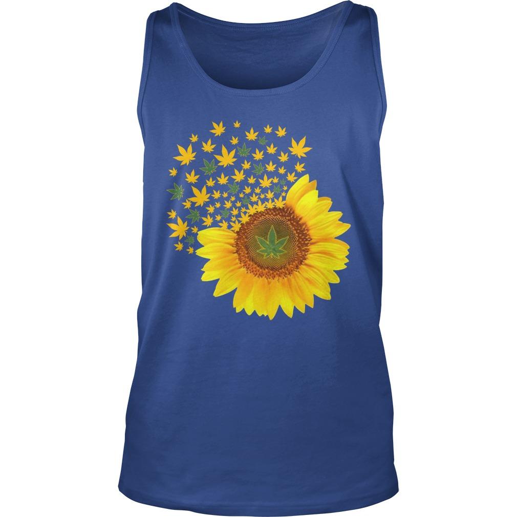 Sunflower weed smoke tank top