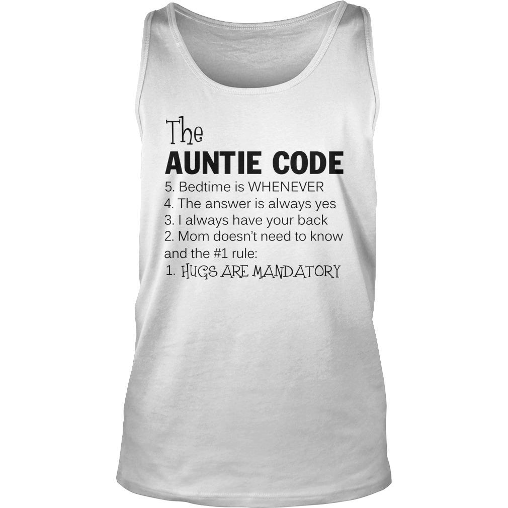 The auntie code tank top
