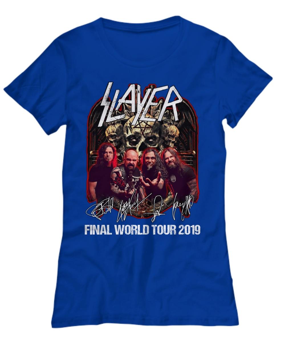 Thrash Metal Slayer final world tour 2019 lady shirt