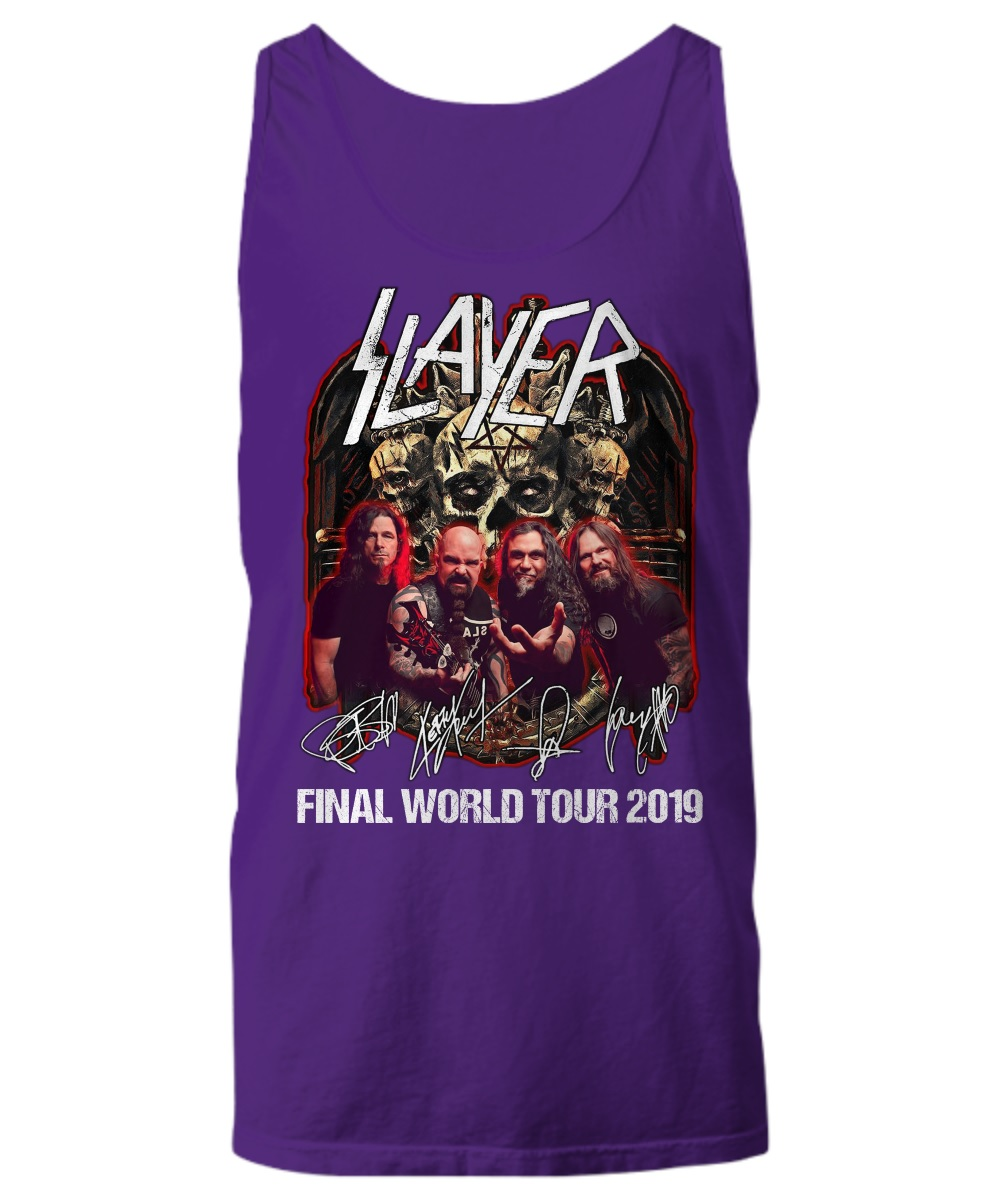 Thrash Metal Slayer final world tour 2019 tank top