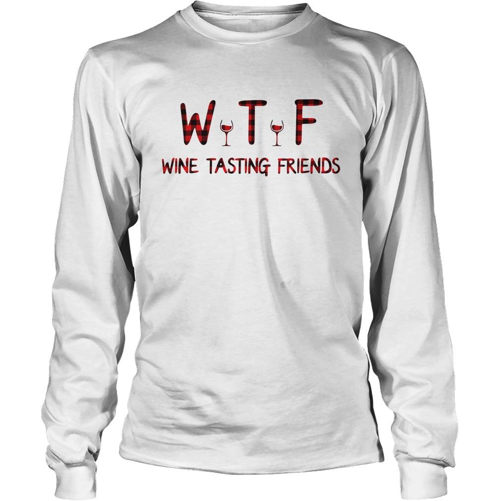 Wine tasting friends longsleeve tee