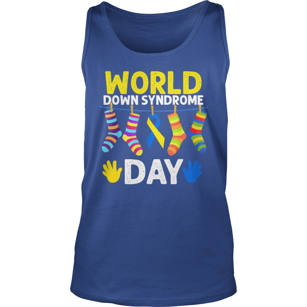 World down syndrome day tank top