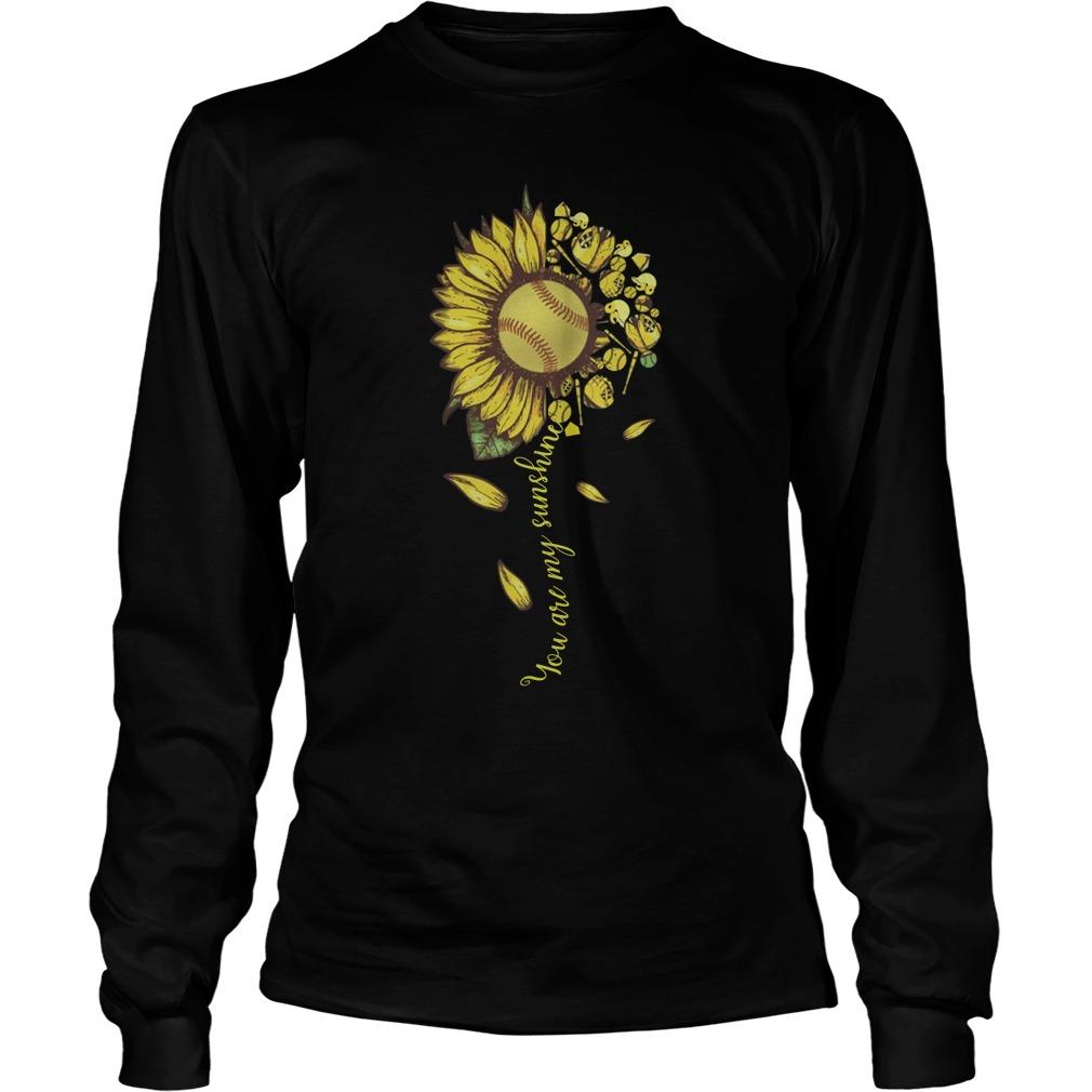 You are my sunshine sunflower tennis longsleeve tee