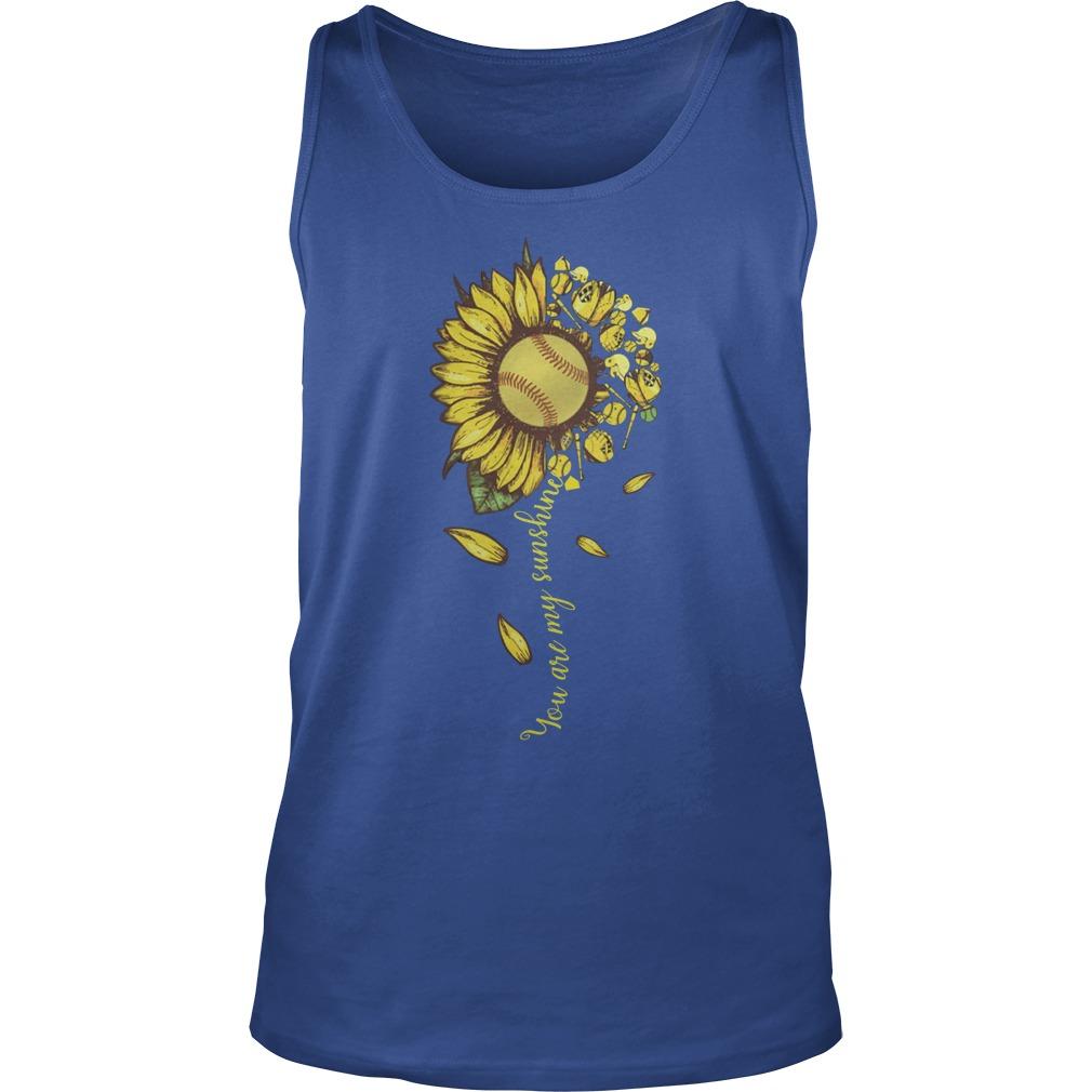 You are my sunshine sunflower tennis tank top
