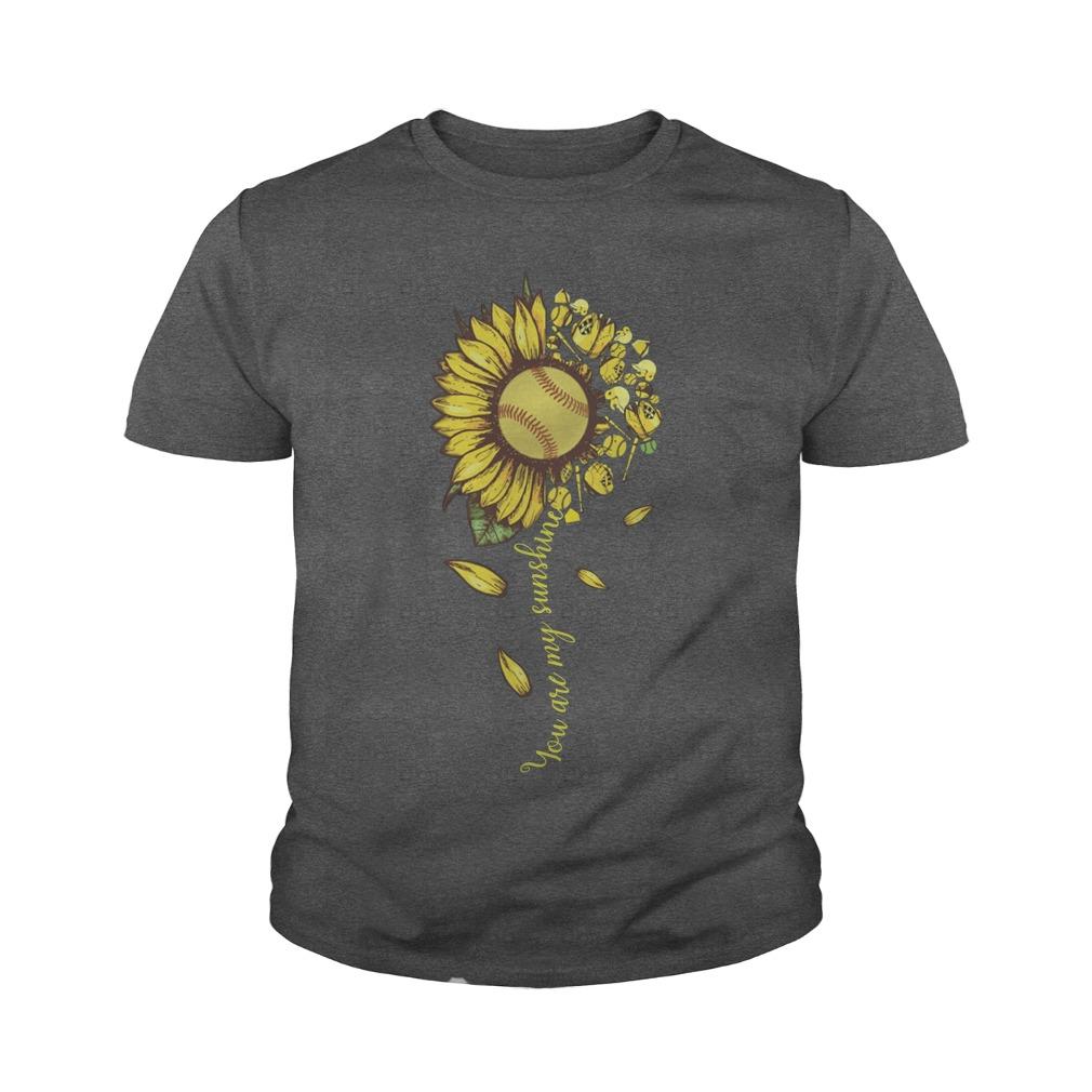 You are my sunshine sunflower tennis youth tee