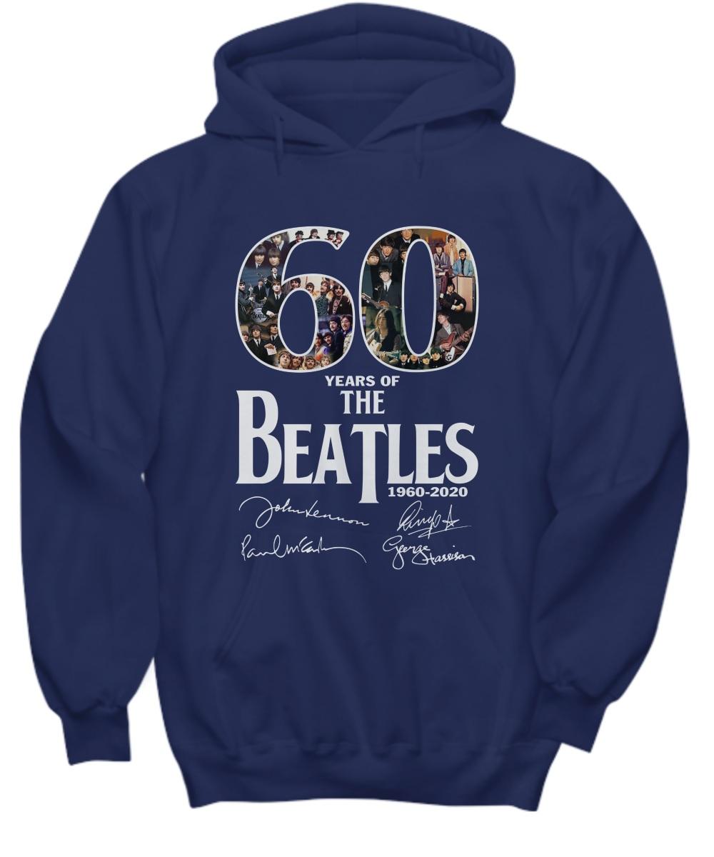 60 years of the beatles 1960 2020 hoodie