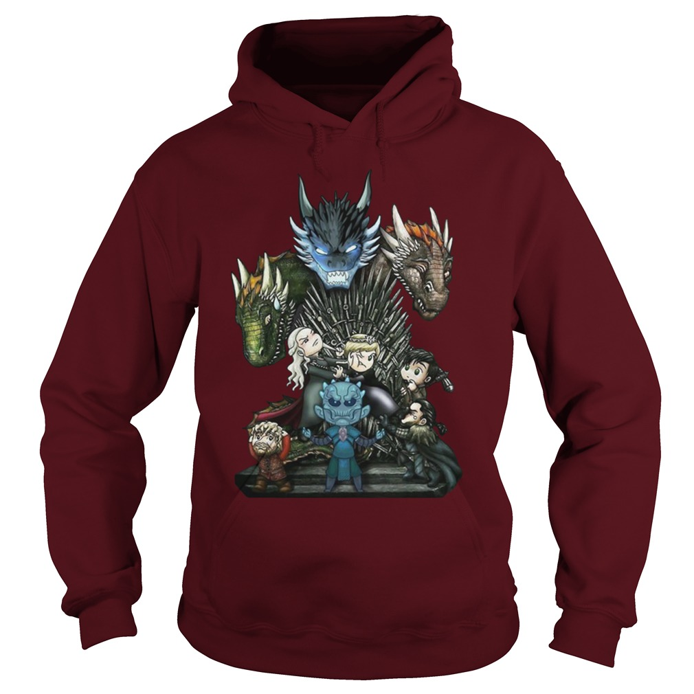 A game of thrones GOT chibi hoodie