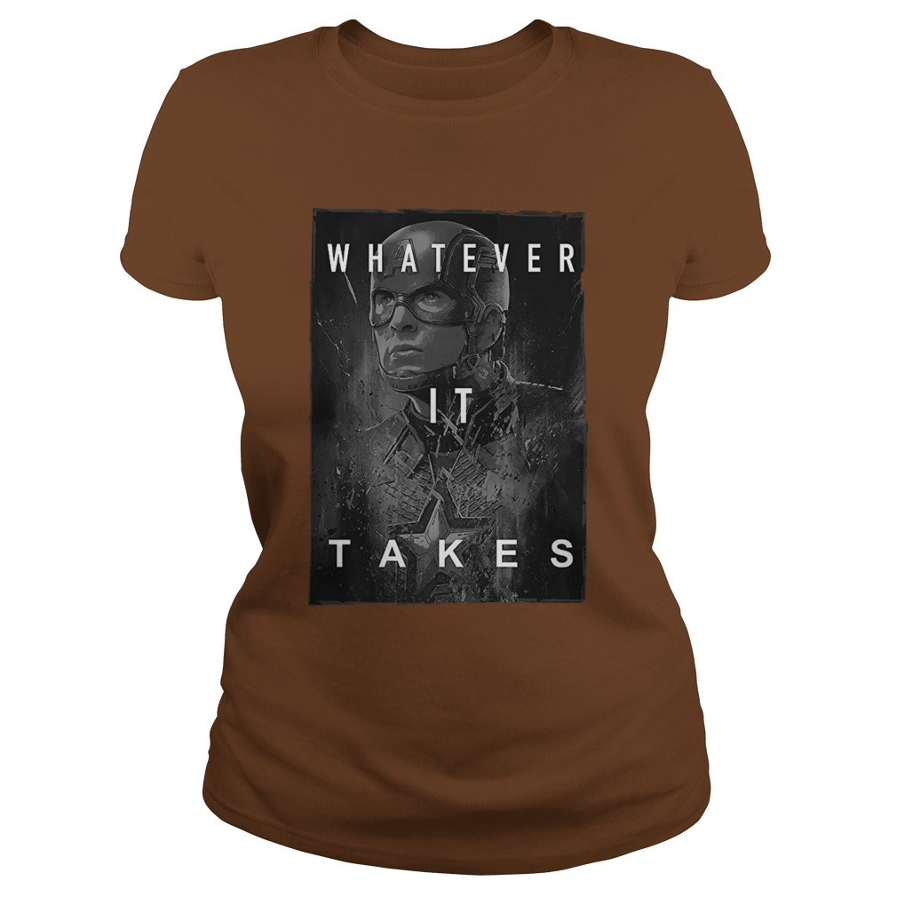 Captain america whatever it take lady shirt