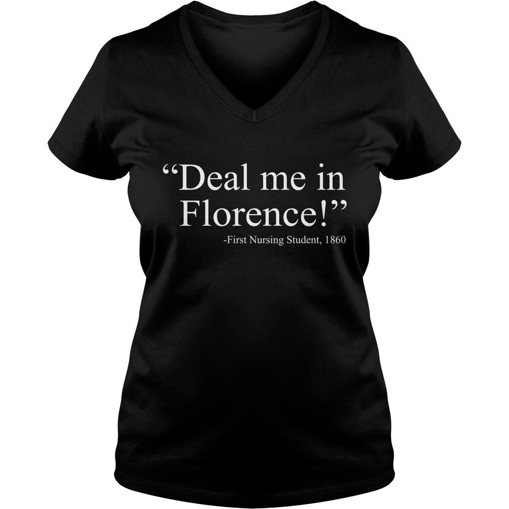 Deal me in florence fist nursing student 1890 lady v-neck