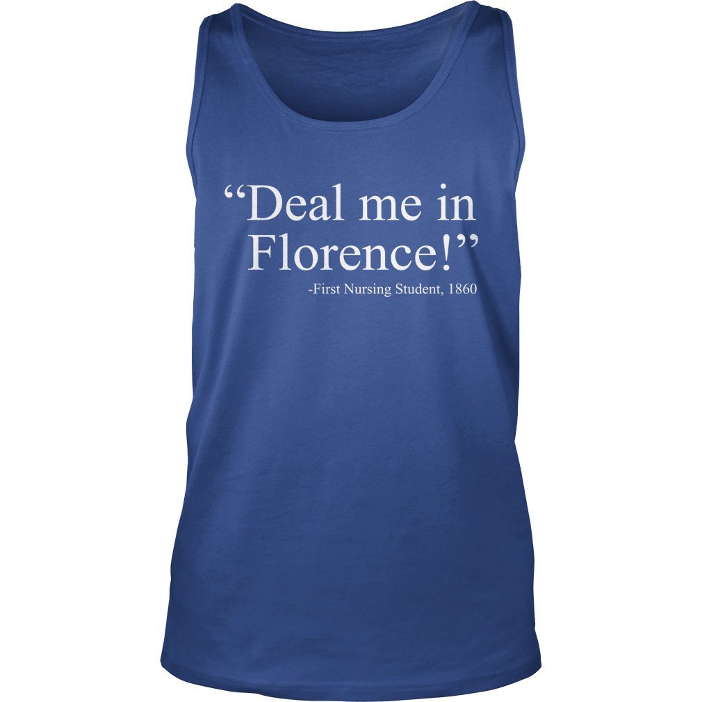 Deal me in florence fist nursing student 1890 tank top