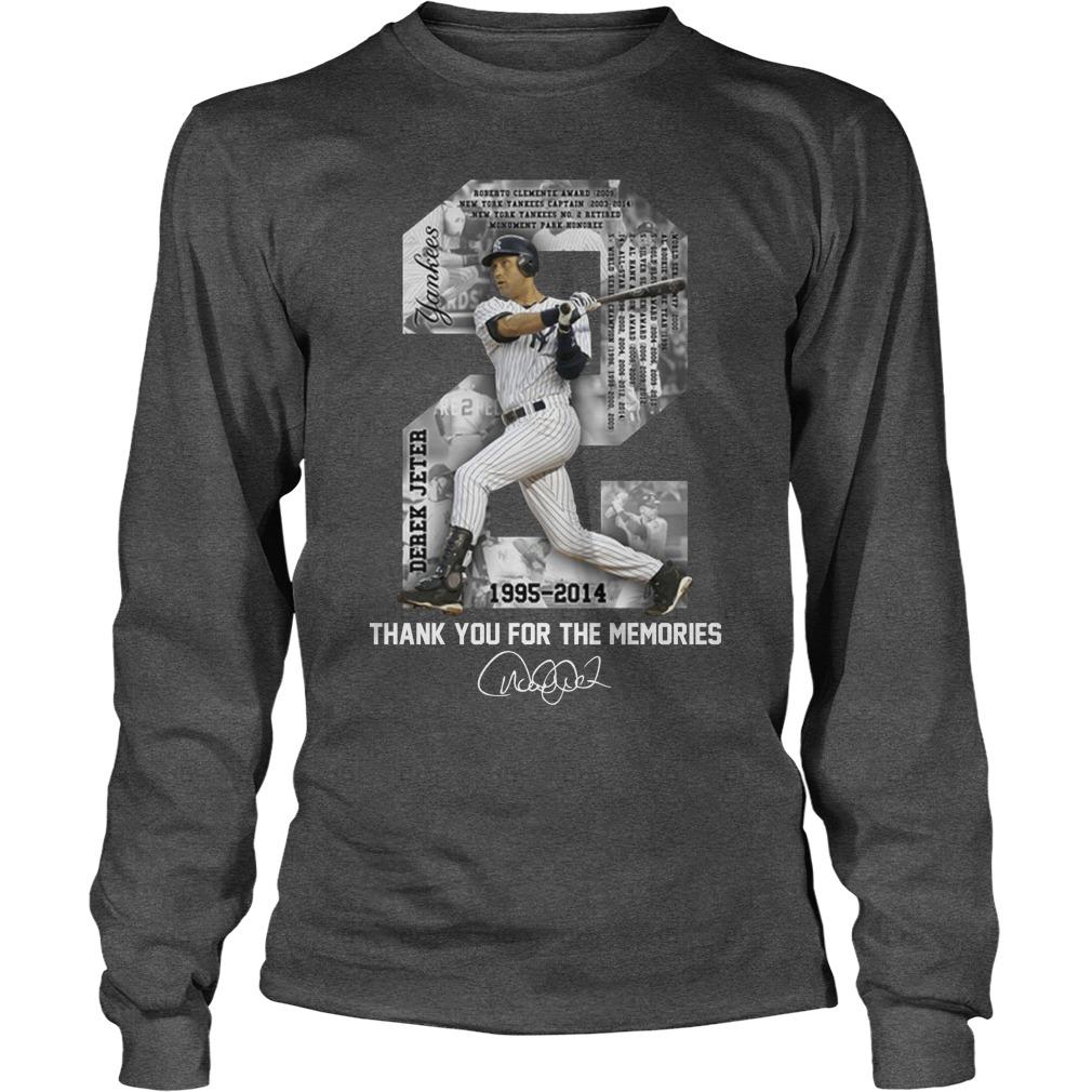 Derek Jeter MLB 1995 2014 thank for the memories longsleeve tee