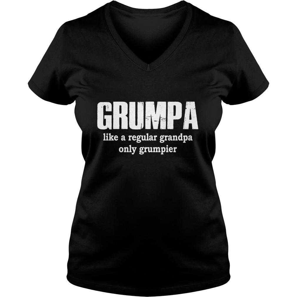 Grumpa like a regular grandpa only grumpier lady v-neck