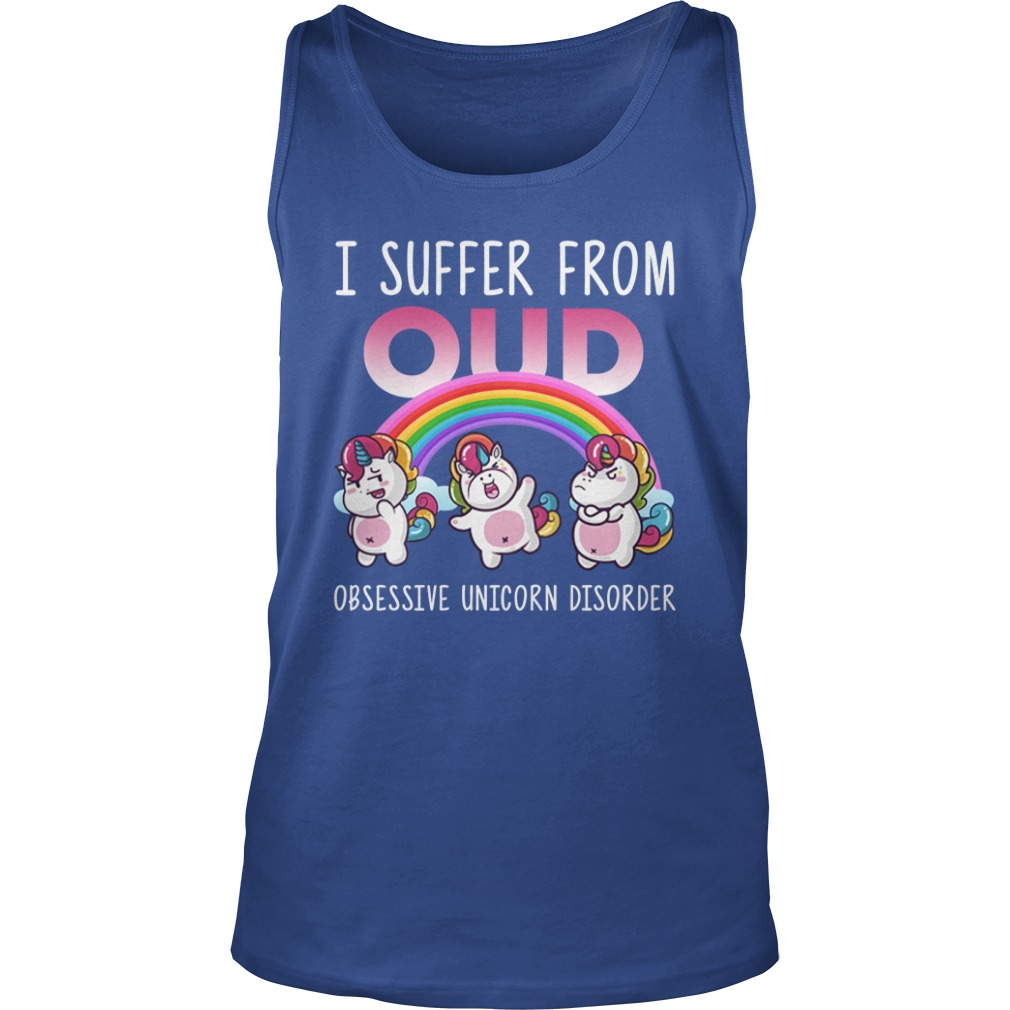 I suffer from ocd obsessive unicorn disorder tank top