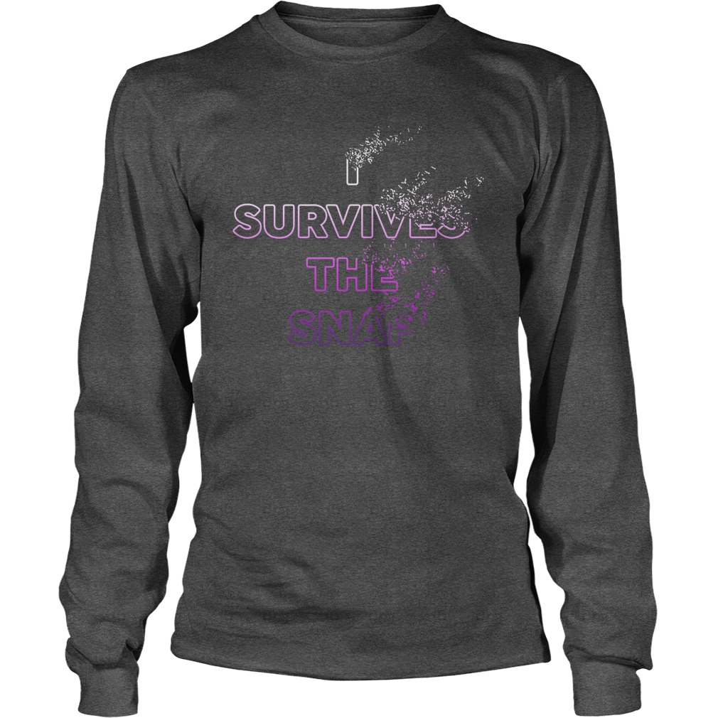 I survived the snap longsleeve tee