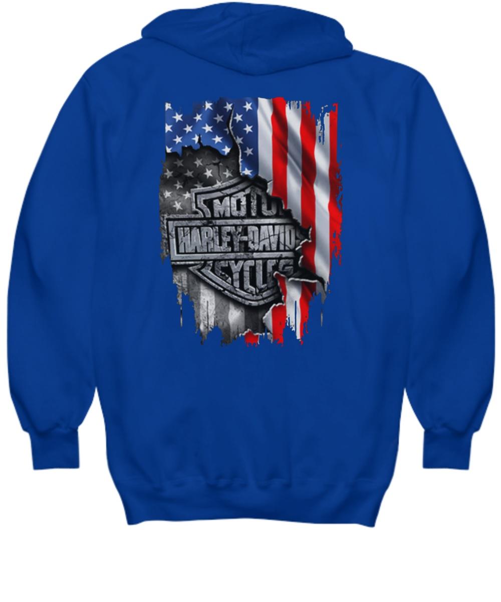 Moto harley inside me american flag hoodie
