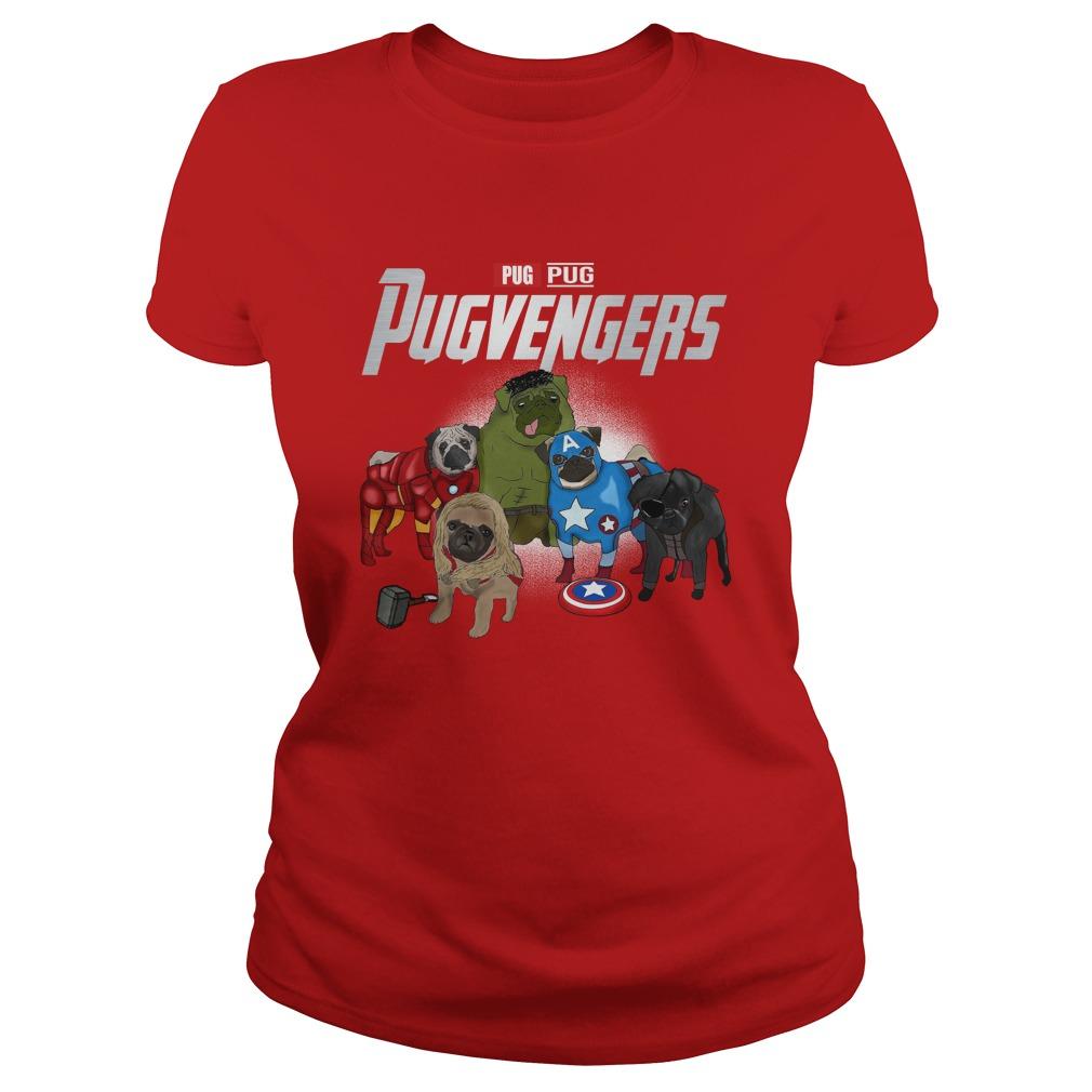 Pug pegvengers lady shirt
