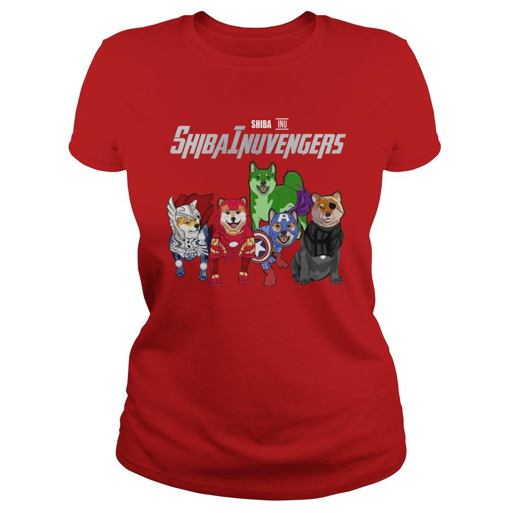 Shiba inu avenger lady shirt