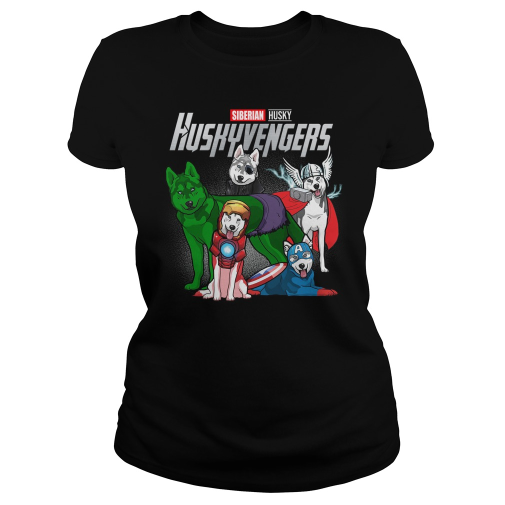 Siberian husky avengers lady shirt